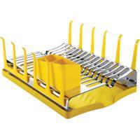 Escorredor De Louças Tramontina 61535080 Com Bandeja Inox Amarelo