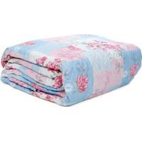 Kit De 01 Colcha Queen Com 02 Porta Travesseiro Santista Rosa