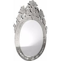 Espelho Decorativo Veneziano Oval Vetrai