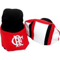 Pantufa Reve Dor Sport Flamengo Vermelha E Preta