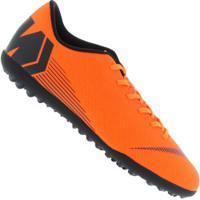 Chuteira Society Nike Mercurial Vapor X 12 Club Tf - Adulto - Laranja Esc  Preto 8ab04f64471ca