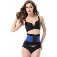 Cinta Modeladora Redutora Slim Para Cintura - Azul