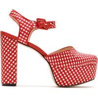 Eva Sapato Plataforma Mini Boquinhas Estampado - Vermelho