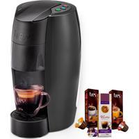 Máquina De Café Espresso Tres Lov Carbono 127V Grátis 3 Caixas De Cap
