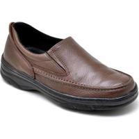 Sapato Gh Calcados Elastico Anti-Stress Conforto Masculino - Masculino-Café