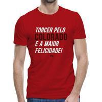 Camiseta Internacional Torcer Pelo Colorado É A Maior Felicidade Masculina - Masculino