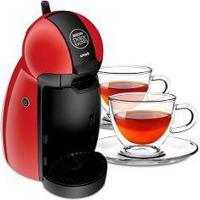 Cafeteira Expresso Dolce Gusto Piccolo Vermelha 220V 2 Xícaras Para Chá Em Vidro Duplo 250Ml