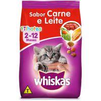Ração Para Gatos Whiskas Filhotes Sabor Carne E Leite 500G