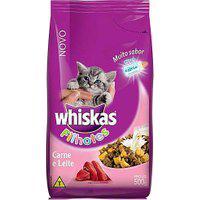 Ração Para Gatos Whiskas Filhotes Sabor Carne E Leite Com 500G