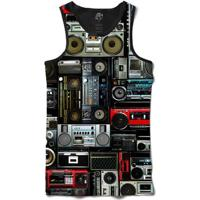 Camiseta Bsc Regata Boombox Full Print - Masculino-Preto