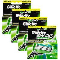 Kit Com 4 Cargas Gillette Mach3 Sensitive C/ 4 Unidades