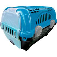 Caixa De Transporte Para Pets Luxo 40X36,5Cm Azul