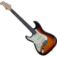 Guitarra Elétrica Para Canhoto Tagima Stratocaster Tg-500 Preta E Marrom