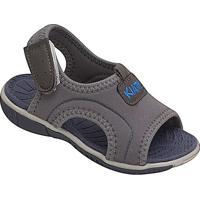 Papete Com Tag & Velcro- Cinza & Azul- Kids- Kiakiath