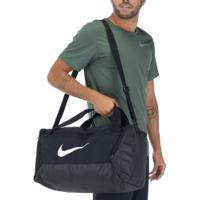 Mala Nike Brasilia S 9.0 - 40 Litros - Preto/Branco