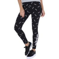 Calça Legging Adidas Aop Tight - Feminina - Preto/Branco