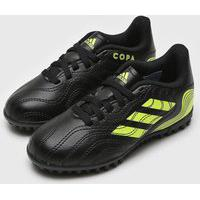 Chuteira Adidas Infantil Copa 21 4 Society Jr Preto/Amarelo