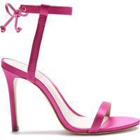 Sandália Minimal Satin Pink | Schutz