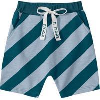 Bermuda Infantil Tigor T. Tigre Feminina - Masculino-Azul