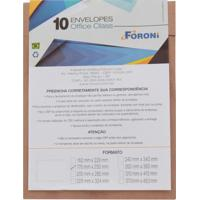 Envelope Saco Foroni Kraft Natural 176X250Mm Com 10 Unidades