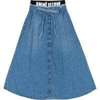 Saia Mini Jeans Animê Azul