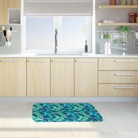 Tapete De Cozinha Mdecore Folhas Verde 40X60Cm