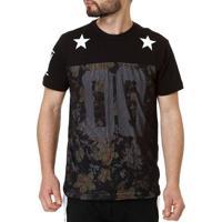 Camiseta Manga Curta Masculina Federal Art Preto