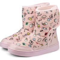 Bota Infantil Bibi Rosa Estampada Urban Boots 1087015 37