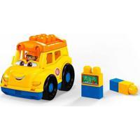 Blocos De Montar - Mega Bloks - Mini Veículos - Sonny School Bus - Mattel