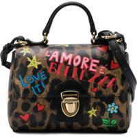 Dolce & Gabbana Kids Bolsa Tiracolo De Couro - Marrom