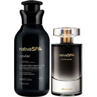 Combo Nativa Spa Caviar: Divine Caviar Desodorante Colônia + Loção Desodorante Corporal 400Ml