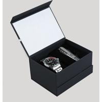 Kit De Relógio Analógico Orient Masculino + Canivete - Mbss1296 Kb88P1Sx Prateado - Único