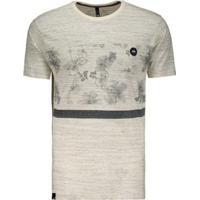Camiseta Hd Especial Hibiscus - Masculino-Bege