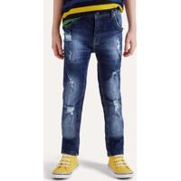 Calca Mini Sm Jeans Rasgos Inv20 Reserva Mini Azul