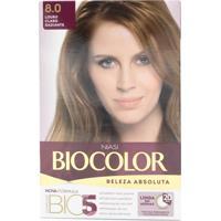 Tintura Biocolor Kit Creme 8.0 Louro Radiante