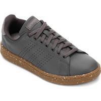 Tênis Couro Adidas Advantage Masculino - Masculino-Cinza+Bege
