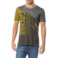 Camiseta Ckj Mc Est Calvin Faixas - Grafite - Pp