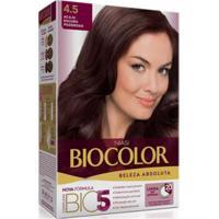 Tintura Biocolor Kit Creme 4.5 Acaju Escuro Poderoso
