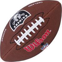 Bola Wilson Futebol Americano Nfl Team Raiders - Unissex