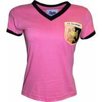 Camisa Liga Retrô Palermo 1970 - Feminino-Rosa
