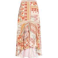Saia Midi Estampa Patchwork Dress To – Bege