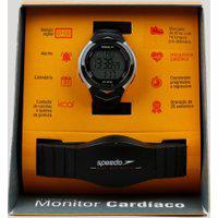 Kit De Relógio Digital Speedo Masculino + Monitor Cardíaco - 80621G0Evnp2 Preto