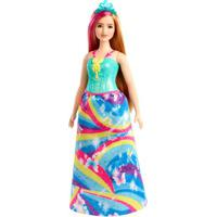Boneca Barbie - Barbie Dreamtopia - Princesa Loira - Vestido Arco-Íris - Mattel