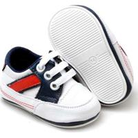 Tênis Top Franca Shoes Infantil - Masculino-Branco+Marinho