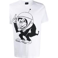 Ps Paul Smith Camiseta Space Monkey Com Estampa Gráfica - Branco