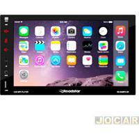 """Auto Rádio Mp5 Player - Roadstar - Fm/Sd/Usb/Bluetooth - Com Controle Remoto - Tela 7"""" - Cada (Unidade) - Rs-505Mp5Br"""