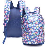 Mochila De Costas Infantil Pcf Global G Macaroons Azul Hello Kitty
