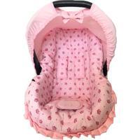 Capa Para Bebê Conforto 0 A 13 Kg Coroa Alan Pierre Baby Rosa
