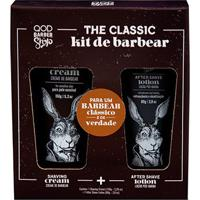Kit Qod Barber Shop Creme De Barbear + Loção Pós Barba - Masculino-Incolor