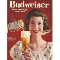 Placa Decorativa Em Mdf Cerveja Propaganda Budweiser Antigo Oldschool Vintage 30X40 Único